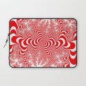 red and white fractal Laptop Sleeve