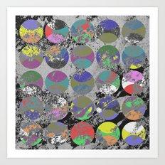 Pastel Passion - Geometric, textured artwork Art Print