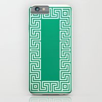 iPhone & iPod Case featuring Greek Key emerald by ravynka