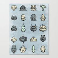 Robot Menagerie Canvas Print