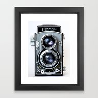 Framed Art Print featuring Flexaret Vinatge Camera by Bomobob