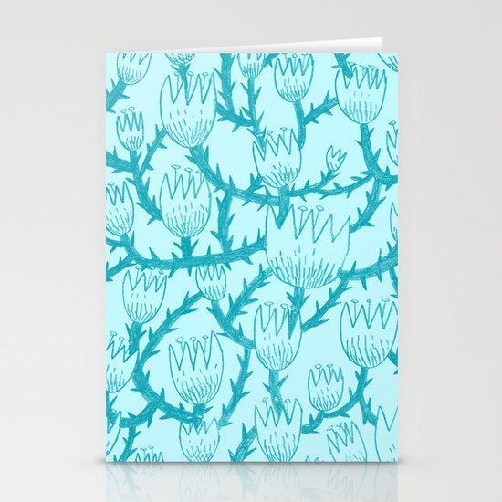 Mint Thorn Stationery Card