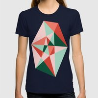 Gem Womens Fitted Tee Navy SMALL