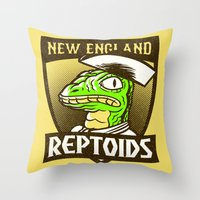 Reptoids Throw Pillow