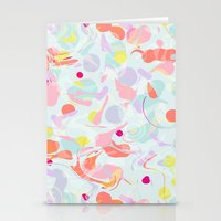 sorbet marble Stationery Cards