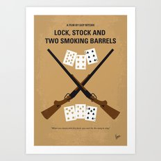 No441 My Lock, Stock and Two Smoking Barrels minimal movie poster Art Print