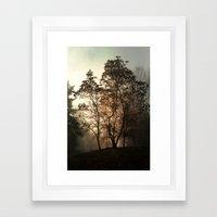 into the mist Framed Art Print