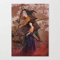 The Spirit Of Tomoe Goze… Canvas Print