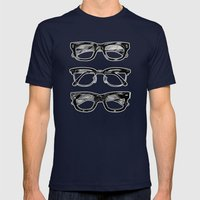 Go Hipster! Mens Fitted Tee Navy SMALL