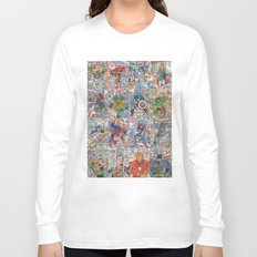 Vintage Comic Superheroes Galore (Limited Time) Long Sleeve T-shirt