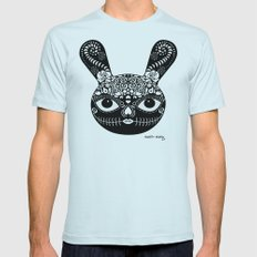 Day Of The Dead Bunny Mens Fitted Tee Light Blue SMALL
