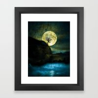 The Moon and the Tree. Framed Art Print