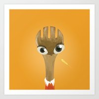 Wooden Forky Art Print