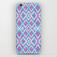 Aqua Berry Ikat iPhone & iPod Skin