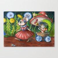 Mama Mouse Canvas Print