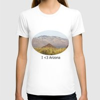 Saguaro National Park Womens Fitted Tee White SMALL