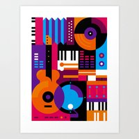 Music Mosaic Art Print