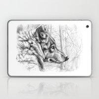 Wolf in woods G082 Laptop & iPad Skin