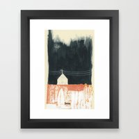 Eat Less Framed Art Print