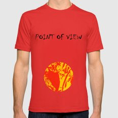 Straw men Mens Fitted Tee Red SMALL