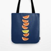 Citrus Tip - indigo & tangerine Tote Bag