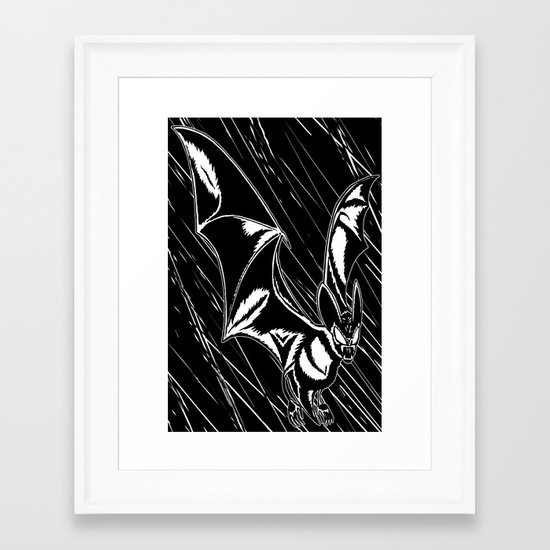 Bat Attack! Framed Art Print