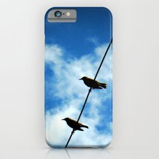 Birds on a Wire -- White clouds, blue sky iPhone 6 Slim Case