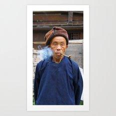 Long-Skirt Miao minority in China Art Print