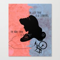 The More There is Of Love Canvas Print