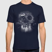Hell On Wheels Mens Fitted Tee Navy SMALL