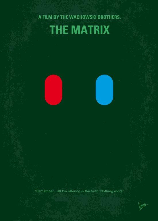 No093 My The Matrix minimal movie poster Canvas Print