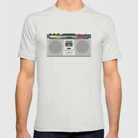 1 kHz #9 Mens Fitted Tee Silver SMALL
