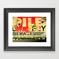 Travel! Framed Art Print
