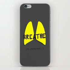 Breathe. A PSA for stressed creatives. iPhone & iPod Skin
