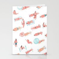 Top Less Beach Stationery Cards