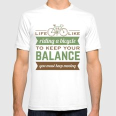 Bike Quote Mens Fitted Tee White SMALL