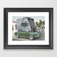 Hybrid Vehicle Framed Art Print