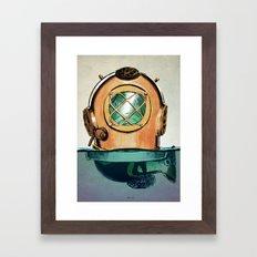 Fish In Diving Framed Art Print