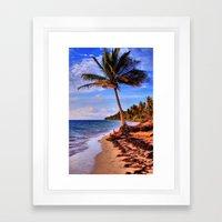 Tropical Island Beach Framed Art Print