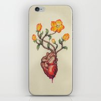 THIS BLEEDING BLOSSOMING HEART: ORANGE WILD ROSE iPhone & iPod Skin