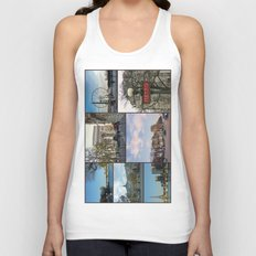 Paris Collage Unisex Tank Top