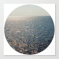 Sparkly Sea Canvas Print