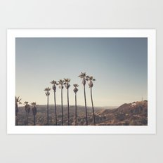 Hollywood Hills Art Print