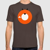 A Most Minimalist Fox Mens Fitted Tee Brown SMALL