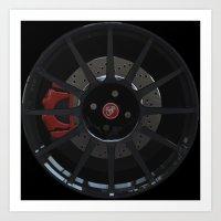 500 Abarth Wheel Art Print