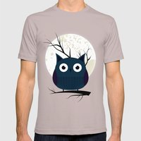 Owl Mens Fitted Tee Cinder SMALL