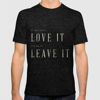 If you don't love it… A PSA for stressed creatives. Mens Fitted Tee Tri-Black SMALL