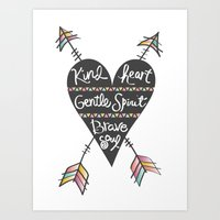 Kind Gentle Brave 1 Art Print