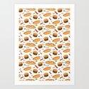 Fast Food Art Print