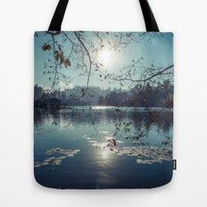 India - Blue lake Tote Bag